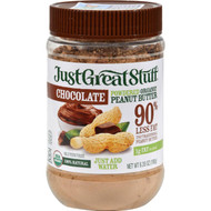 Just Great Stuff Peanut Butter - Organic - Chocolate - Powdered - 6.35 Oz - Case Of 12