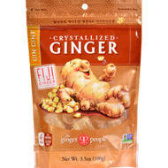 Ginger People Crystallized Ginger Candy - 3.5 Oz - Case Of 24