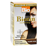 Bio Nutrition Inc Biotin - 10000 Mcg - 60 Tablets