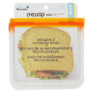 Blue Avocado Lunch Bag - Re-zip Seal - Orange - 2 Pack