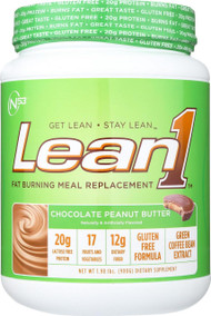 Nutrition53 Meal Replacement Shake - Lean1 - Fat Burning - Chocolate Peanut Butter - 2 Lb