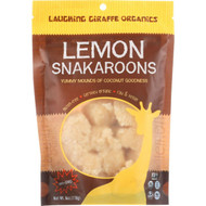 Laughing Giraffe Organics Coconut Snacks - Snakaroons - Organic - Lemon - 6 Oz - Case Of 8