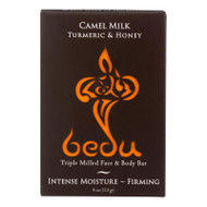 Bedu Face And Body Bar - Turmeric And Honey - Case Of 6 - 4 Oz.