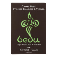 Bedu Face And Body Bar - Evening Primrose And Vetiver - Case Of 6 - 4 Oz.