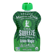 Mamma Chia Squeeze Vitality Snack - Green Magic - Case Of 16 - 3.5 Oz.