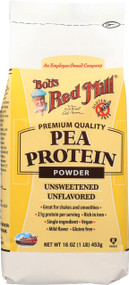 Bob's Red Mill Pea Protein Powder - Unsweetened And Unflavored - Case Of 4 - 16 Oz.
