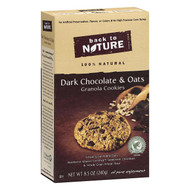 Back To Nature Granola Cookies - Dark Chocolate And Oats - Case Of 6 - 8.5 Oz.