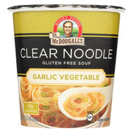 Dr. Mcdougall's Garlic Vegetable Clear Noodle Asian Soup Cup - Case Of 6 - 1.1 Oz.