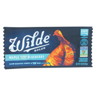Wilde Premium Lean Meat Snack Bars - Maple Blueberry - Case Of 15 - 1.06 Oz.