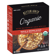 Better Oats Organic Instant Multigrain Hot Cereal - Maple Brown Sugar - Case Of 6 - 11.6 Oz.