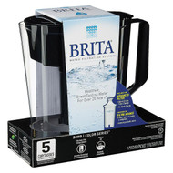 Brita Soho Pitcher Water Filtration System - Black - Case Of 2