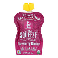 Mamma Chia Squeeze Vitality Snack - Strawberry Banana - Case Of 16 - 3.5 Oz.