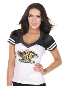 Sporty Football Jersey Top- Logo