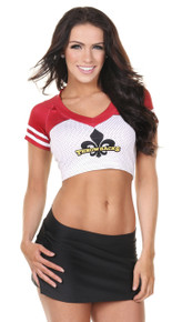Sporty Football Jersey Crop Top- Logo