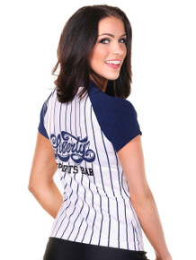 Baseball Sporty Jersey Top- Logo