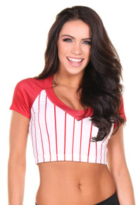 Baseball Sporty Jersey Top Crop