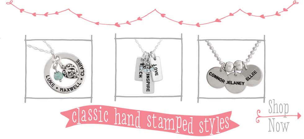Classic Hand Stamped Jewelry Styles