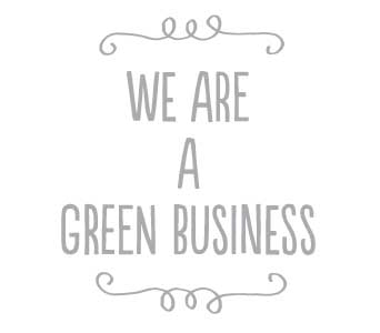 We are a green business