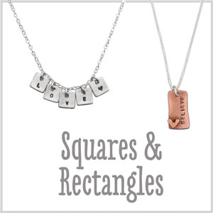 Handstamped personalized necklace