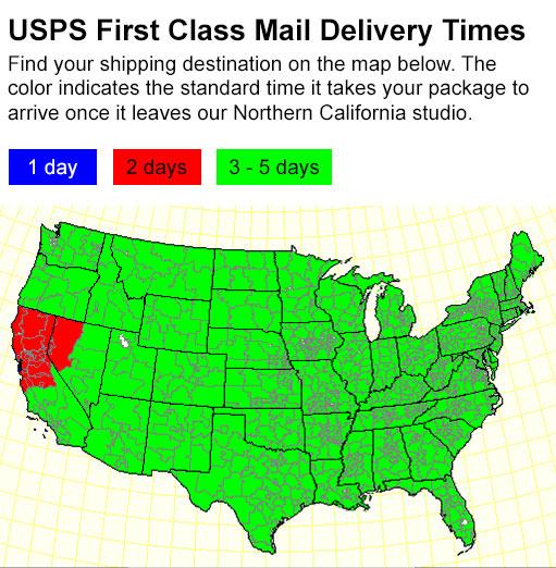 Mail Delivery Estimates - Us postal service transit map