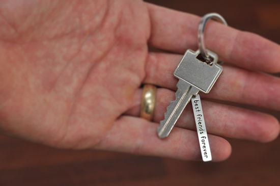 Inspirational key ring