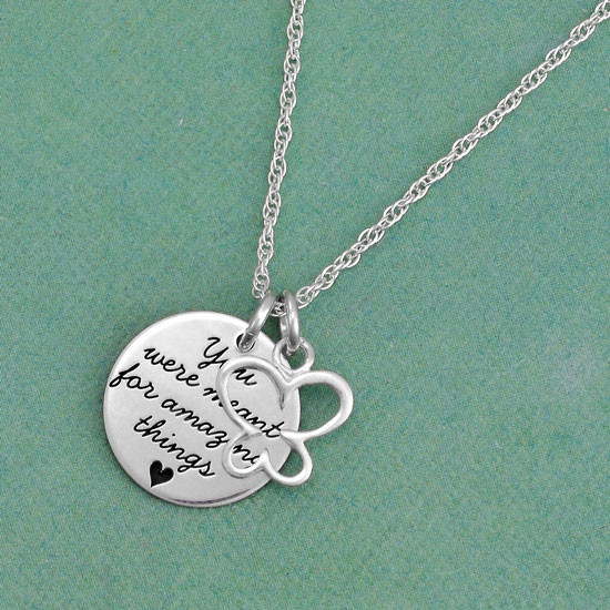Your saying on a necklace