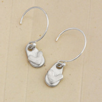 Loved Silver Loop Earrings