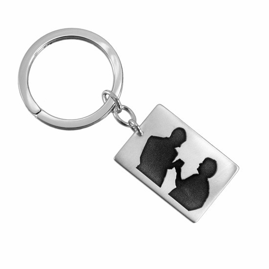 Photo Silhouette on a Key Ring