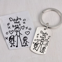 Handwritten note from kids on a key ring