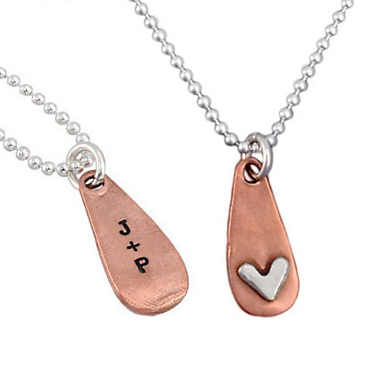 Subtle Devotion Heart Necklace Front and Back