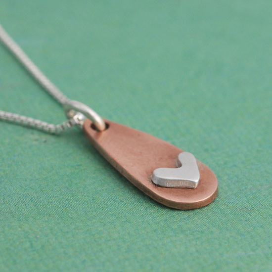 Subtle Devotion Heart Necklace