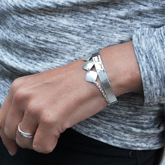 Stacked with a diamond charm bracelet