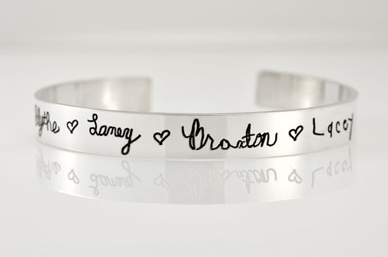 Memorial cuff bracelet