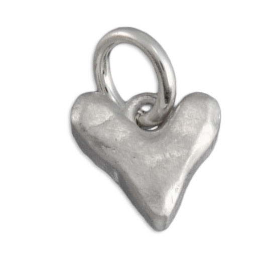 Heart charm for hand stamped necklace