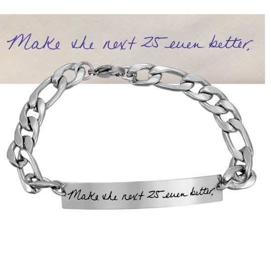 ID Bracelet for Man with Actual Handwriting