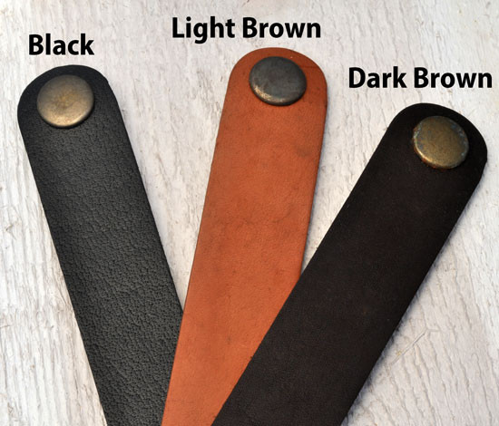 Leather colors for handwriting bracelet