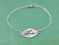 Sweet Petal Handwriting Bracelet