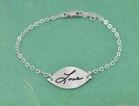 Sweet Petal Handwriting Bracelet