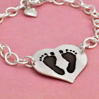 Custom footprints bracelet