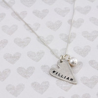 Heart name charm