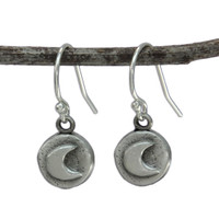 Moon earrings front view