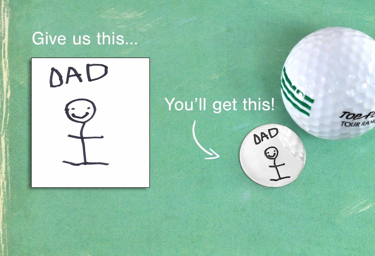 Custom golf ball marker