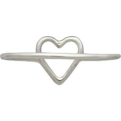 Back view of heart ring