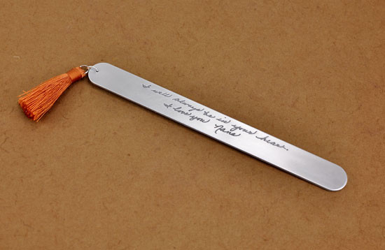 Bookmark with your actual handwriting