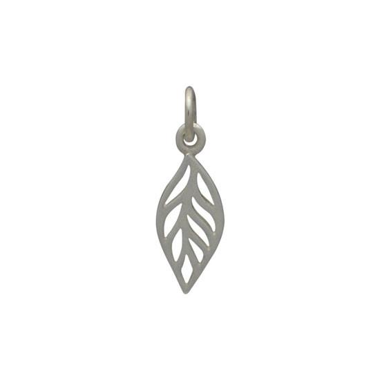 Tiny sterling leaf
