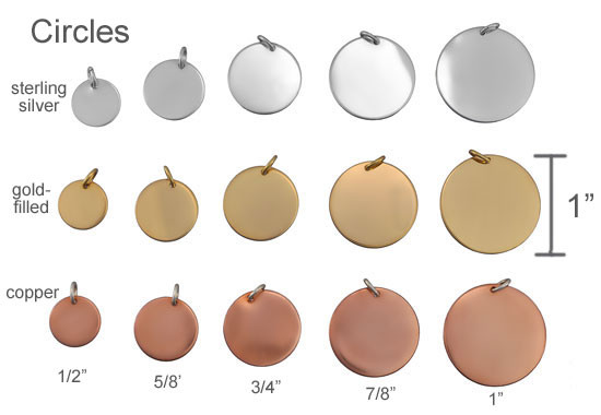 Sterling, gold and copper handwriting and artwork charms
