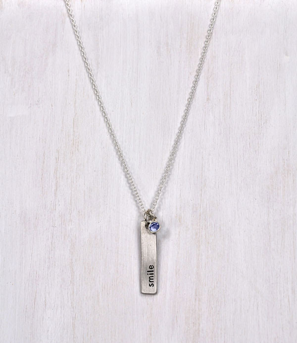 Affirmation bar necklace