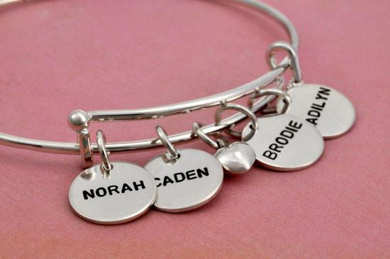 Hand stamped bracelet