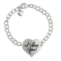 Custom heart handwriting bracelet