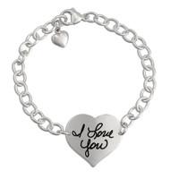 Custom heart handwriting bracelet